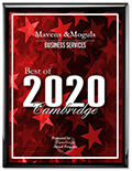 Mavens & Moguls receives the 2020 Best of Cambridge Award in the Business Services category